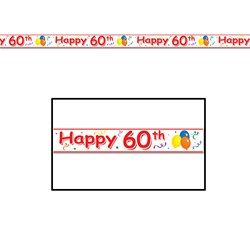 Happy 60th Birthday Party Tape