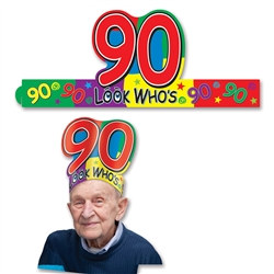 Look Who's 90 Headband