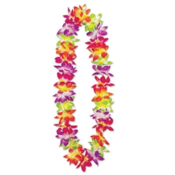 Whether you planning a Jungle, Luau or Cruise party, your guest will love this vibrant Maui Floral Lei set.