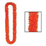 Orange Deluxe Soft-Twist Poly Leis