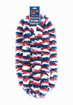 Tri-Color Patriotic Soft-Twist Poly Leis (sold 100 per box)