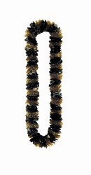 Soft-Twist Black and Gold Poly Leis (sold 100 per box)