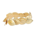 The Fabric Roman Laurel Wreath is an economical costume accessory to transform you to Greek or Roman times. The gold fabric leaves are attached to an elasticized band, forming a headpiece that will fit most adults. Not eligible for returns.