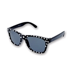 The Star Glasses are a stylish accessory that look great with any attire. These black plastic glasses are printed with white stars around each dark lens. Sized to fit most adults. One per package. Cosmetic use only - does not provide sun protection.