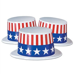 Plastic Topper w/Patriotic Band