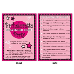 Bachelorette Scavenger Hunt Game