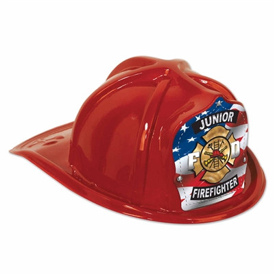 Red Junior Firefighter Hat