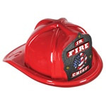 Junior Red Fire Hat (Patriotic Shield)