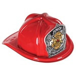 Red Junior Firefighter Hat (Silver FD Shield)