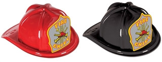 Fire Chief Hat with Gray Shield (Choose Color)