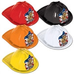 Jr Plastic Firefighter Hat (choose color)