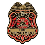 Jr Firefighter Plastic Badge w/Clip
