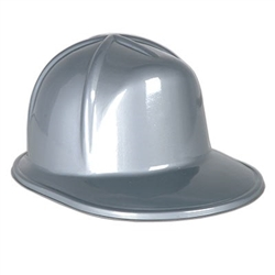The Silver Plastic Construction Helmet is made of a silver light weight plastic material. One size fits most. One per package. No returns.