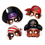 Pirate Masks (4/pkg)