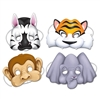 Jungle Animal Masks (4/pkg)