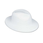 White Velour Fedora