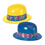 Assorted Plastic Birthday Derby (1/pkg)