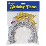 Pkgd Happy Birthday Tiaras w/Fringe