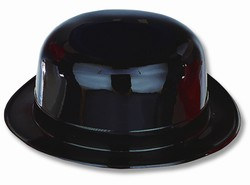Black Plastic Derby Hat