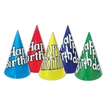 Happy Birthday Hats, 5 colors (sold 144 per box)