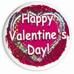 Happy Valentines Day Button