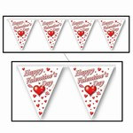 Happy Valentine's Day Pennant Banner