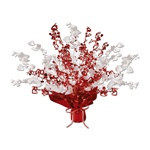 Red and White Heart Gleam N Burst Centerpiece