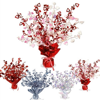 Heart Gleam N Burst Centerpiece (Select Color)