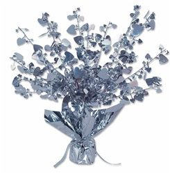 Silver Heart Gleam 'N Burst Centerpiece