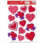 Heart Window Clings (13/sheet)