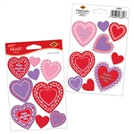 "Each Package is 2 sheets with 18 stickers total. Four have ""Happy Valentines Day"" printed on them, the other 14 are blank so you can write your own message for that special someone.  Great for Valentines Day cards, gifts DIY projects and memory books."
