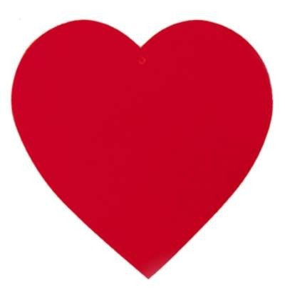 Red Heart Cutout 15 Inches