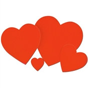Red Heart Cutout (Select Size)
