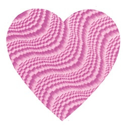 Pink Embossed Foil Heart Cutout (4 inch)