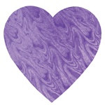 Purple Embossed Foil Heart Cutout (4 inch)