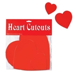Assorted Red Hearts (9/pkg)