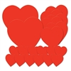 Pkgd Printed Heart Cutouts