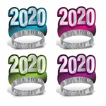 Here's a great way to get all of your guests in the New Year's mood! They'll be smiling as they countdown to the New Year when they're wearing these fun New Year 2020 Tiaras.