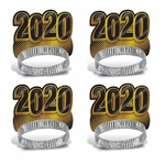 Here's a great way to get all of your guests in the New Year's mood! They'll be smiling as they countdown to the New Year when they're wearing these fun Gold New Year 2020 Tiaras. Sold 50 per package, you'll have enough for nearly any size party.