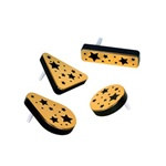 Black and Gold Plastic Metallic Noisemakers