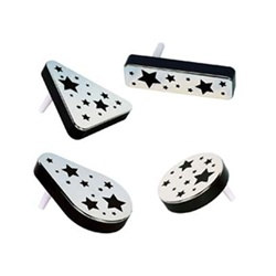 Black and Silver Plastic Metallic Noisemakers