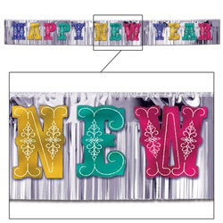 Multi-Color Metallic Happy New Year Banner