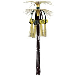 Black and Gold New Year Cascade Hanging Column