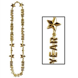 Gold Happy New Year Beads-of-Expression