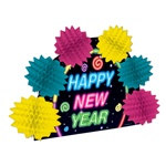 Neon Happy New Year Pop-Over Centerpiece