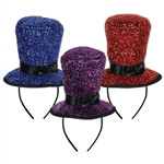Sparkling Top Hat Headbands (1/Pkg)