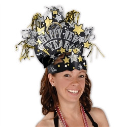 Gold and Silver Glittered New Year Headdress (1/Pkg)