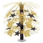 Add classic black and gold style to your New Year's Eve party table with this Happy New Year Cascade Centerpiece.  Adds shine, movement, interest and fun to your holiday table .
