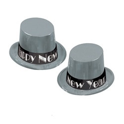 Simply Silver New Year Topper Hats (1/pkg)