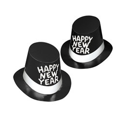 Top Hat and Tails New Year Hi-Hats (sold 25 per box)